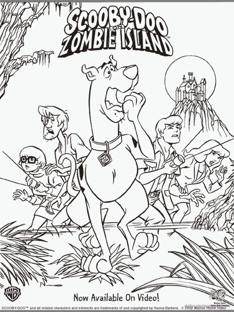 scooby doo and scrappy doo coloring pages