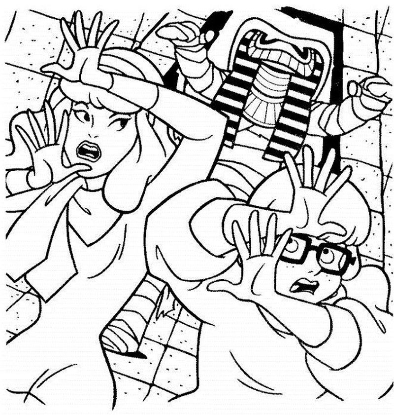 scooby doo coloring pages easy