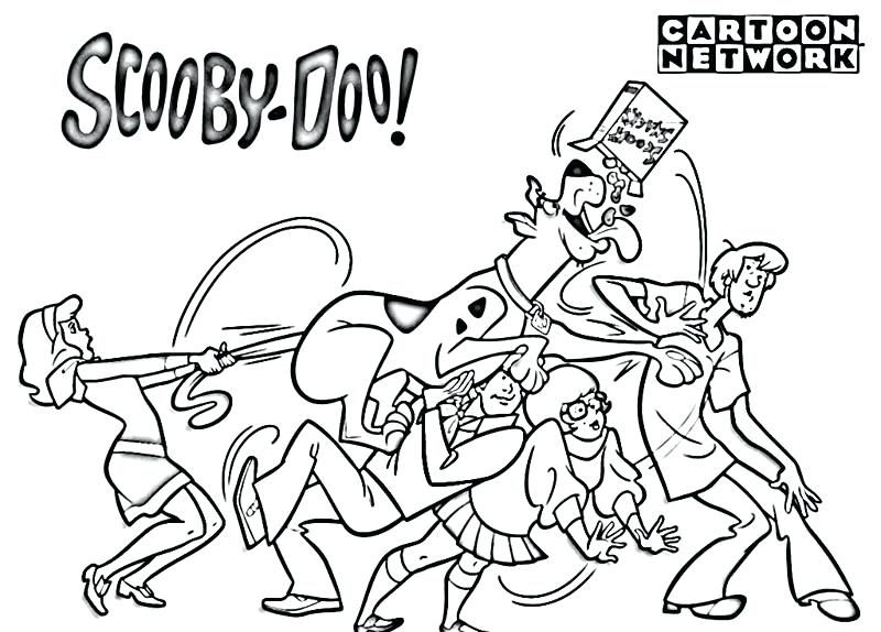scooby doo coloring pages zombie