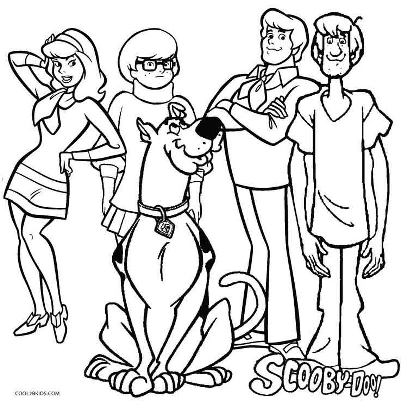 scooby doo where are you coloring pages