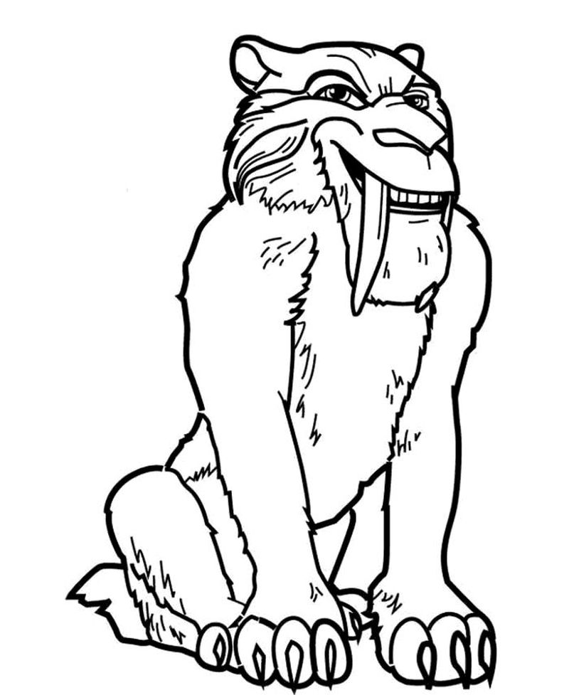 scrat ice age coloring pages