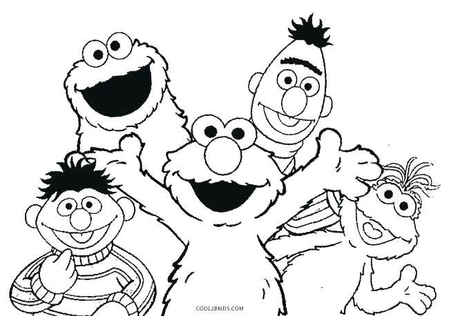 sesame street coloring pages big bird