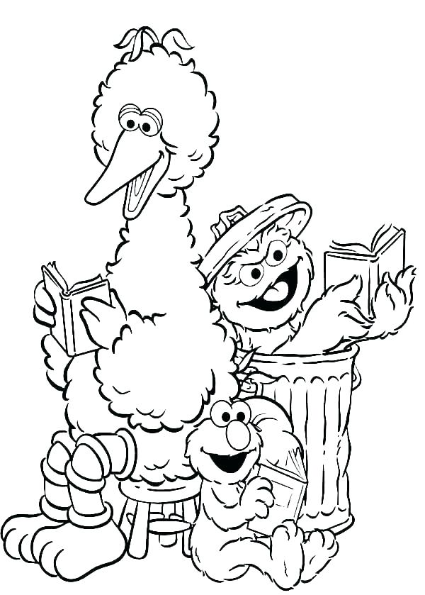 sesame street coloring pages ernie