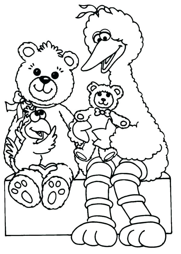 sesame street coloring pages free