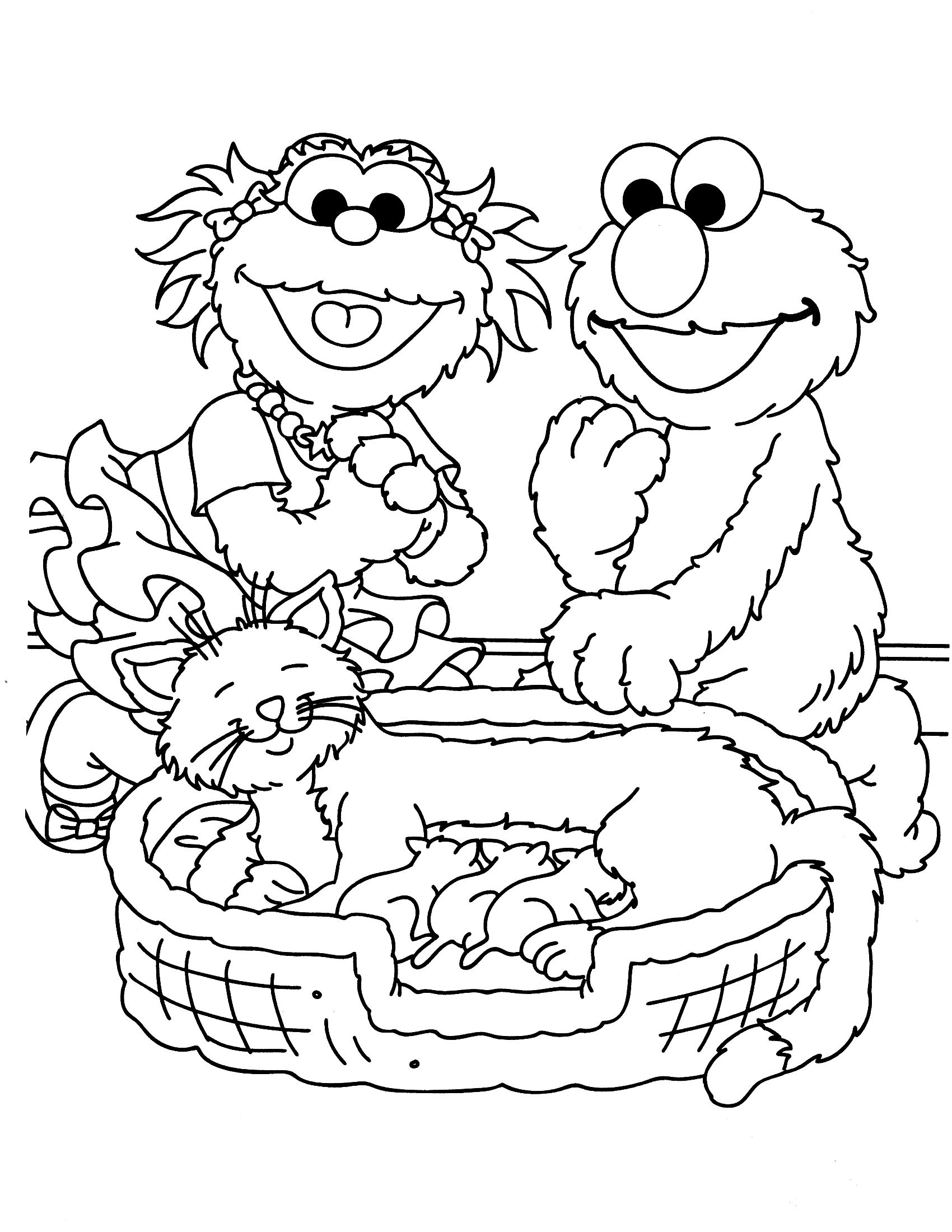 sesame street coloring pages zoe