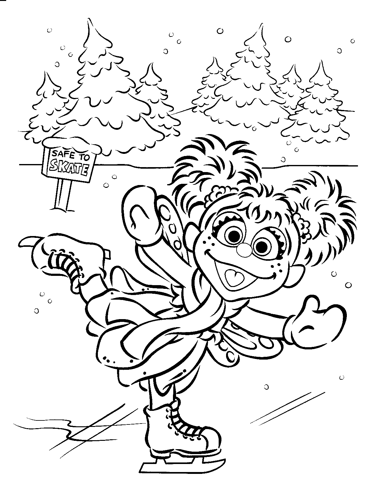 sesame street colouring pages to print