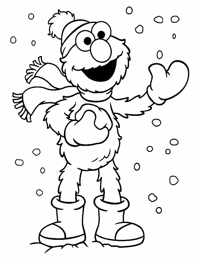 sesame street colouring pages