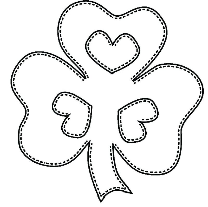 shamrock coloring page for adults