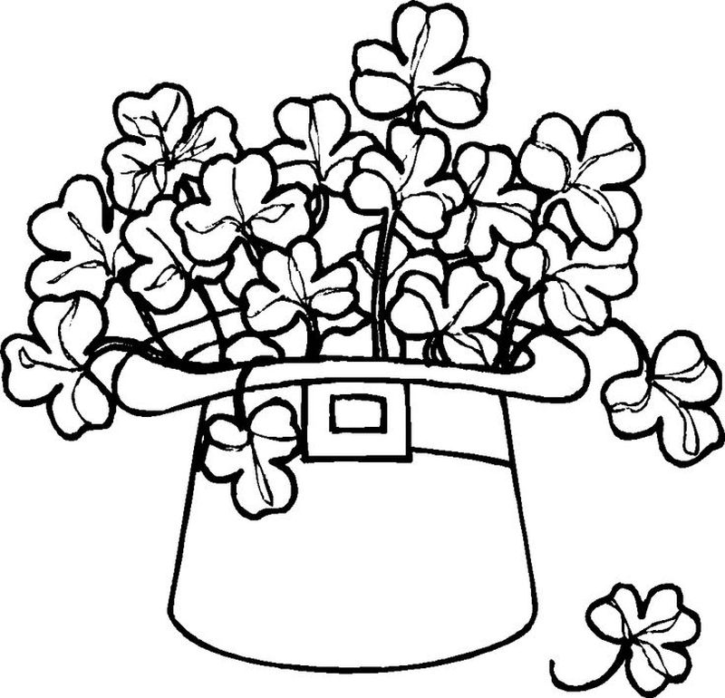 shamrock coloring pages to print