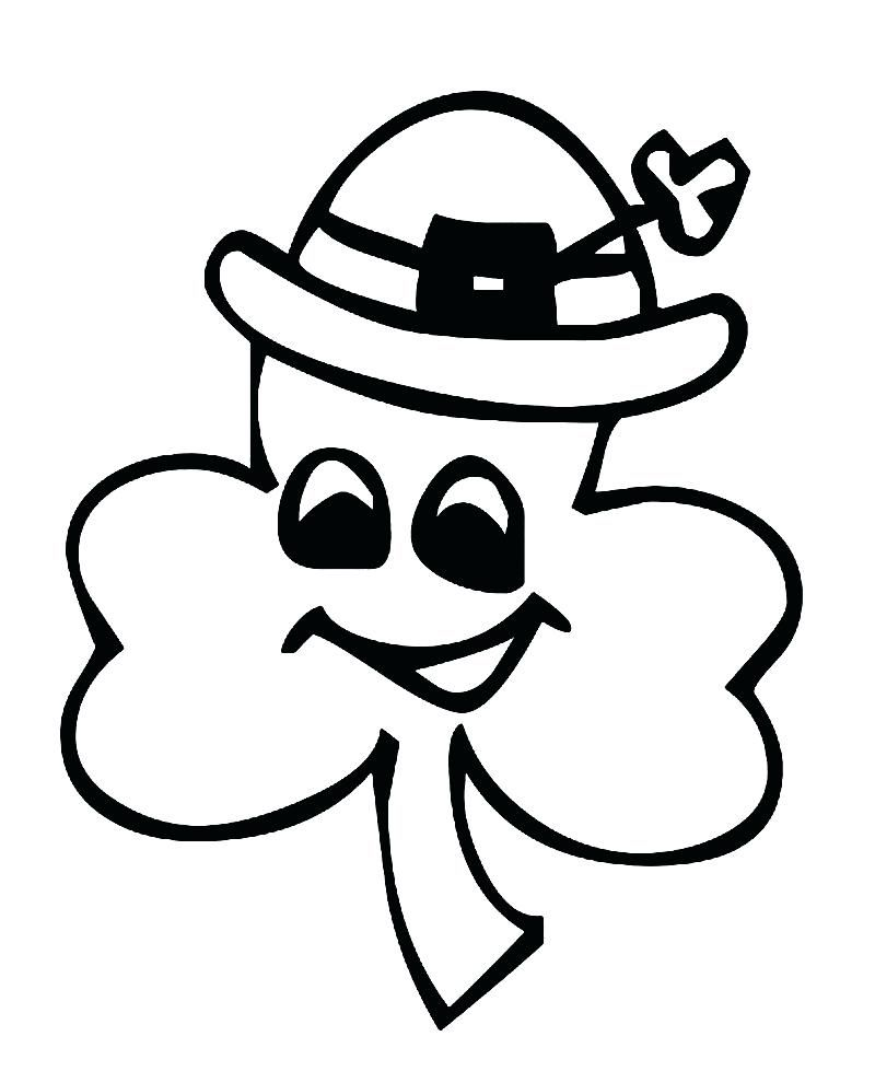 shamrock trinity coloring page