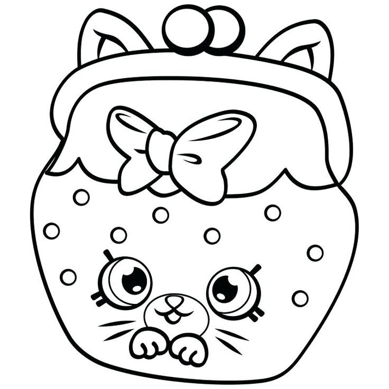 shopkin coloring pages clipart