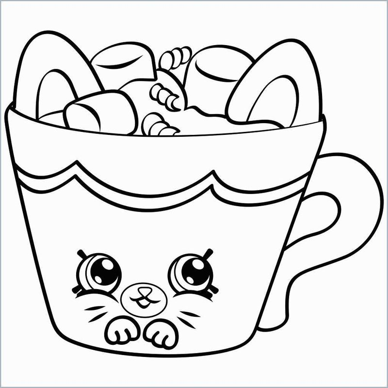 shopkin coloring pages cookie