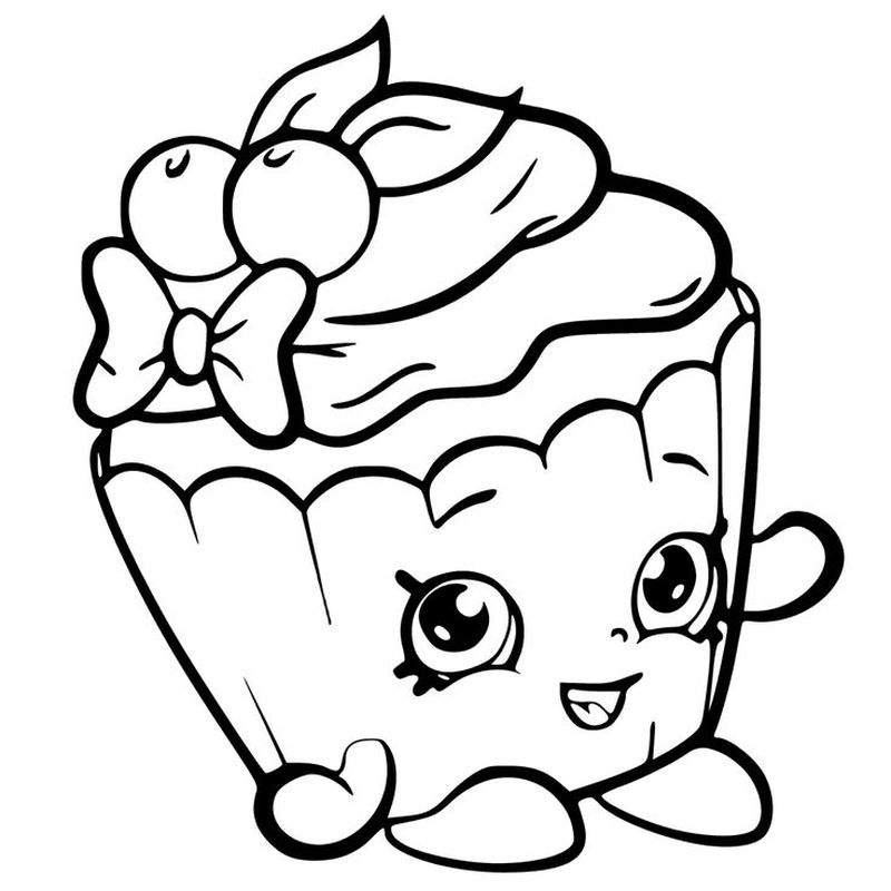 shopkin coloring pages cupcake queen