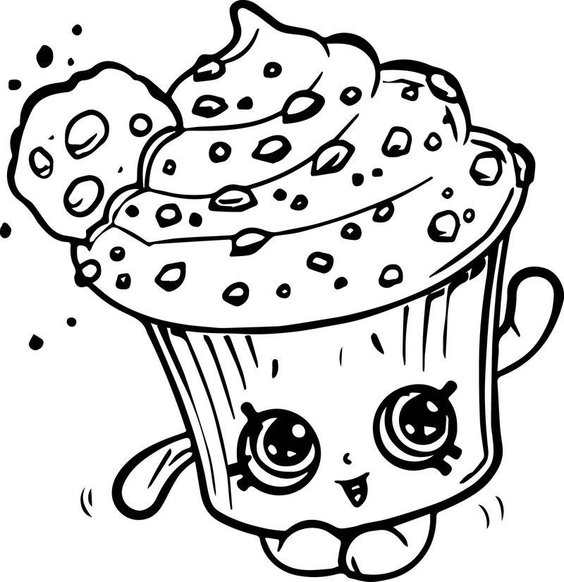 shopkin coloring pages cupcake