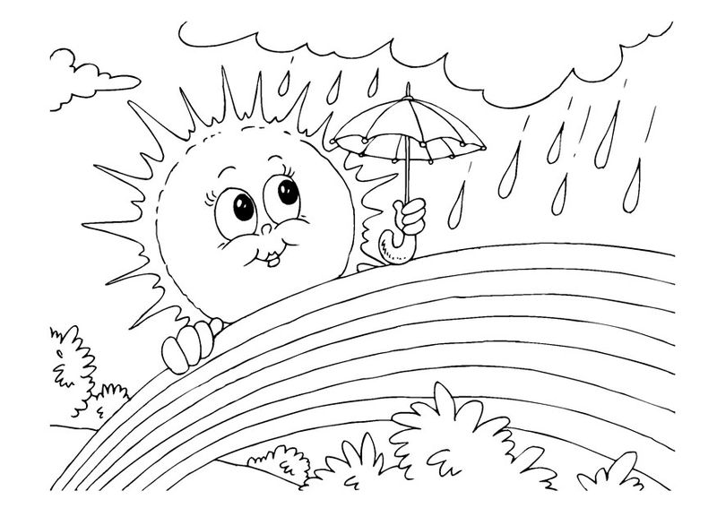 smiling sun coloring pages