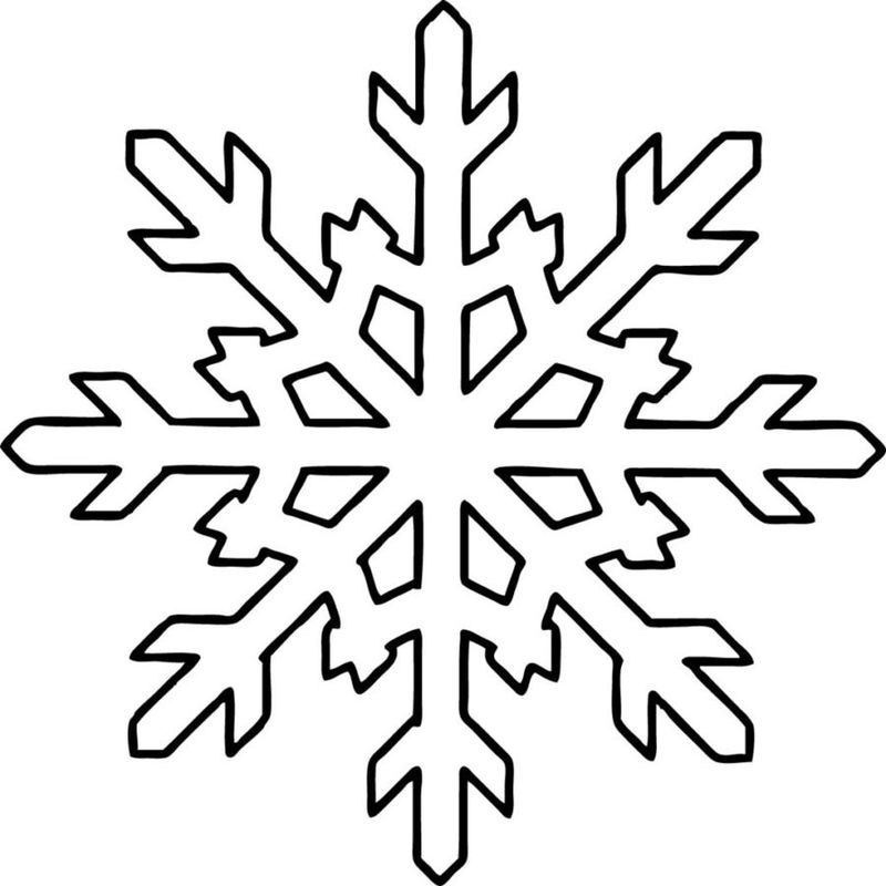 snowflake coloring pages for toddlers