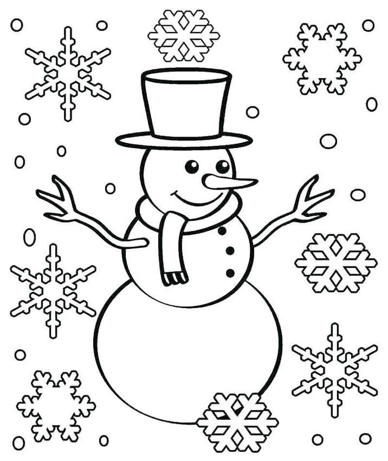 snowflake coloring pages free printable