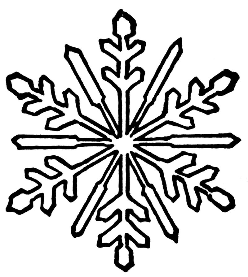 snowflake coloring pages images