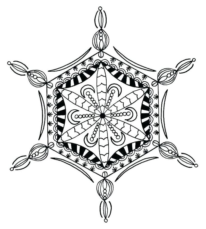 snowflake coloring pages to print