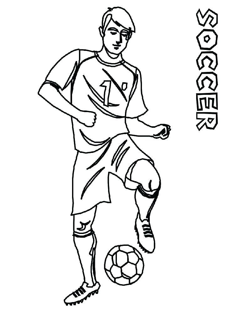 soccer cartoon coloring pages