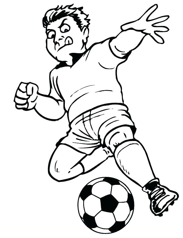 soccer player coloring pages to print
