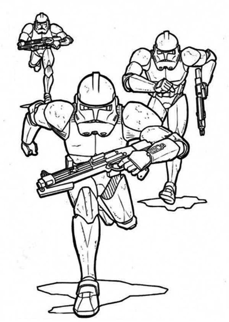 star wars coloring pages clone troopers
