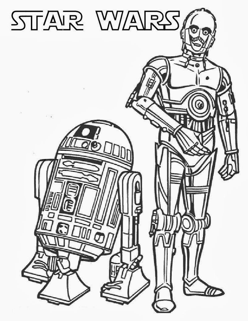 star wars coloring pages easy
