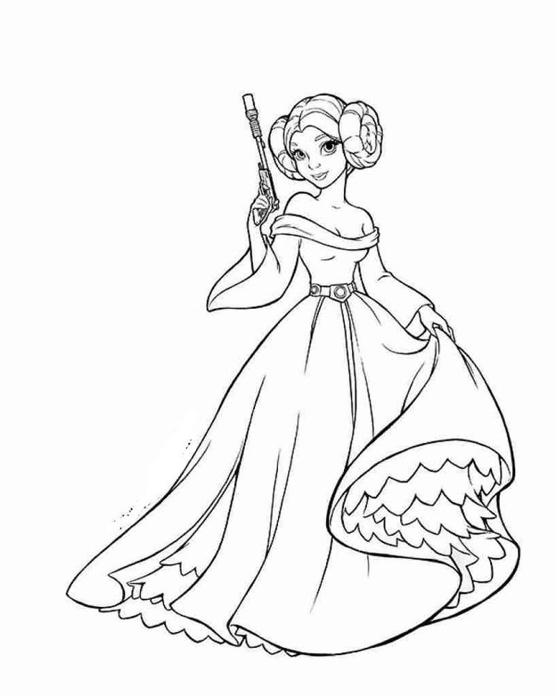 star wars coloring pages leia