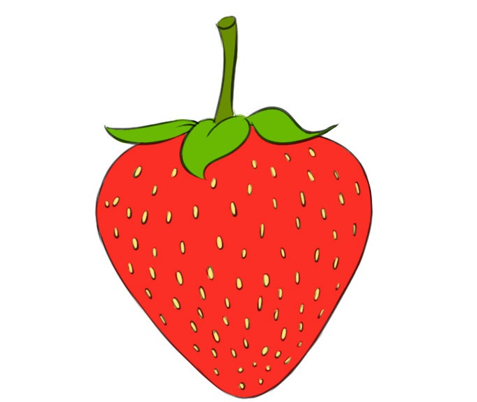 strawberry coloring pages best