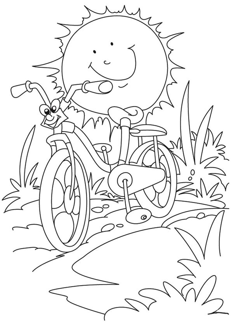 summer coloring pages for first grade