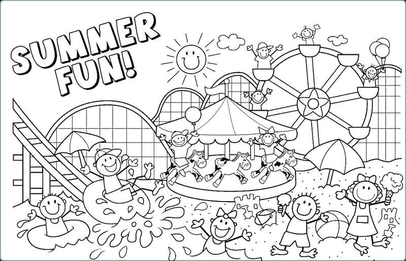 summer coloring pages for toddlers