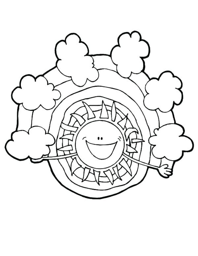 sun and clouds coloring pages