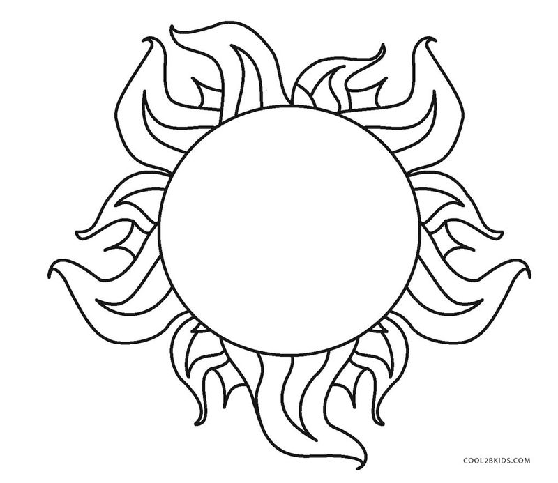 sun coloring pages disney