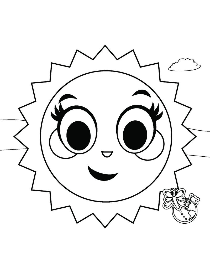 sun coloring pages easy