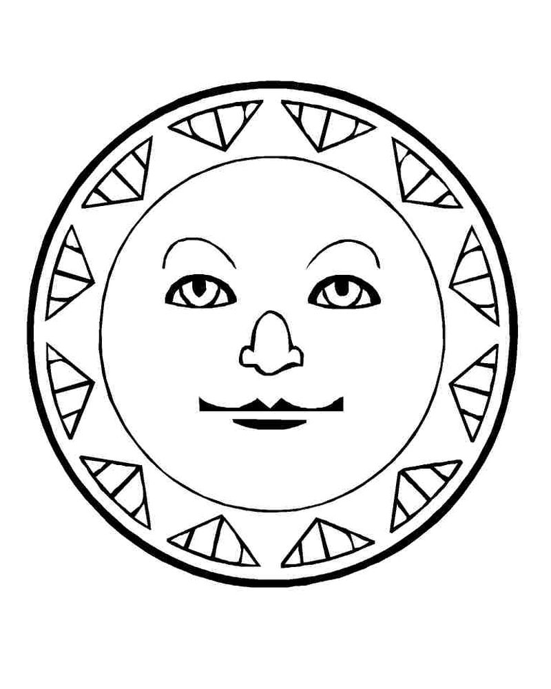 sun coloring pages for kindergarten