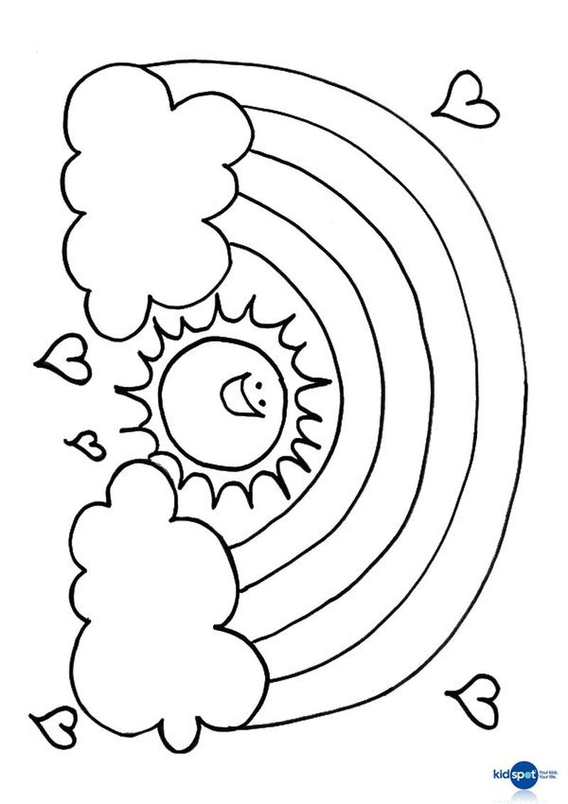 sun coloring pages for toddlers