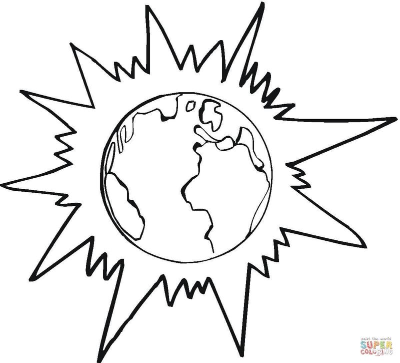 sun coloring pages free