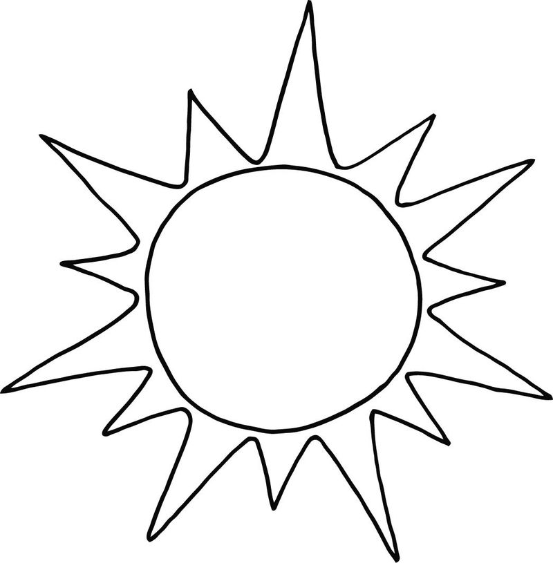 sun coloring pages pdf