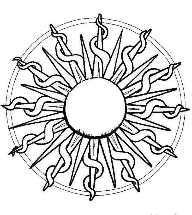 sun coloring pages to print