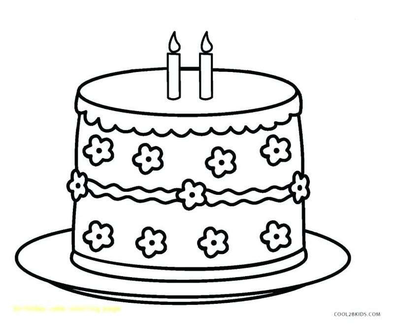 super coloring pages birthday cake