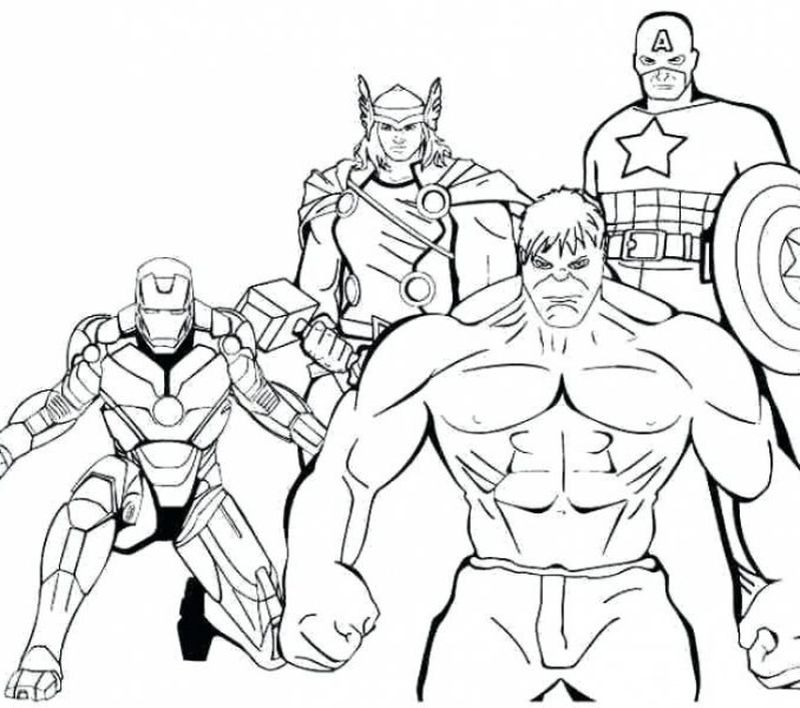superhero coloring pages avengers
