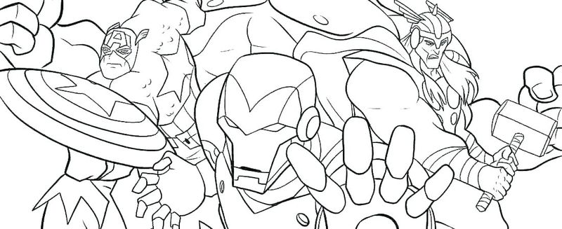 superhero coloring pages marvel