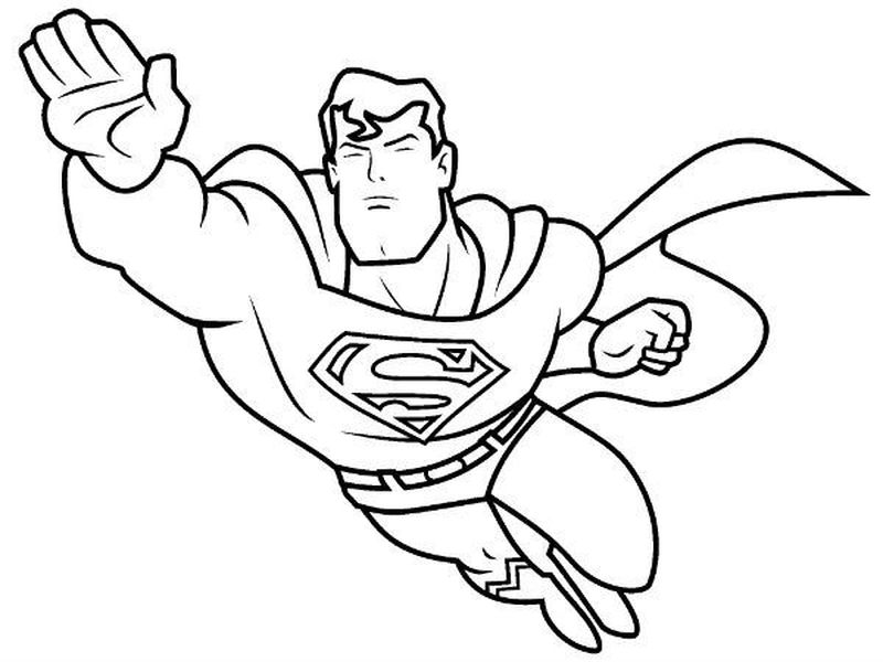 superhero coloring pages to print