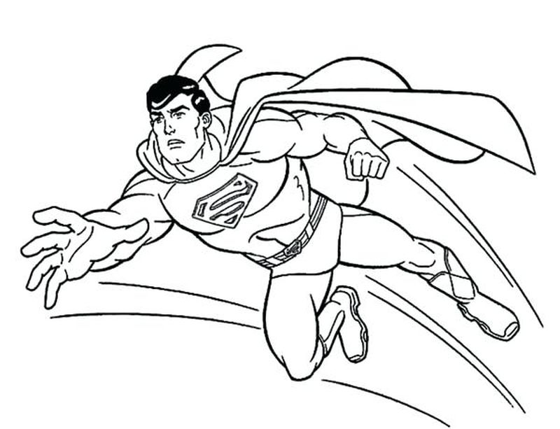 superman coloring pages for boys