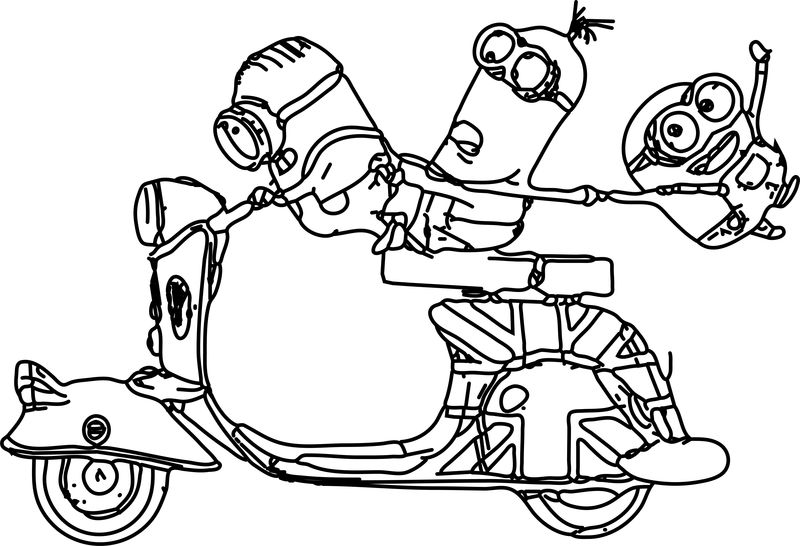 the minions coloring pages