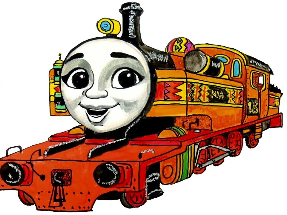 thomas and the train coloring