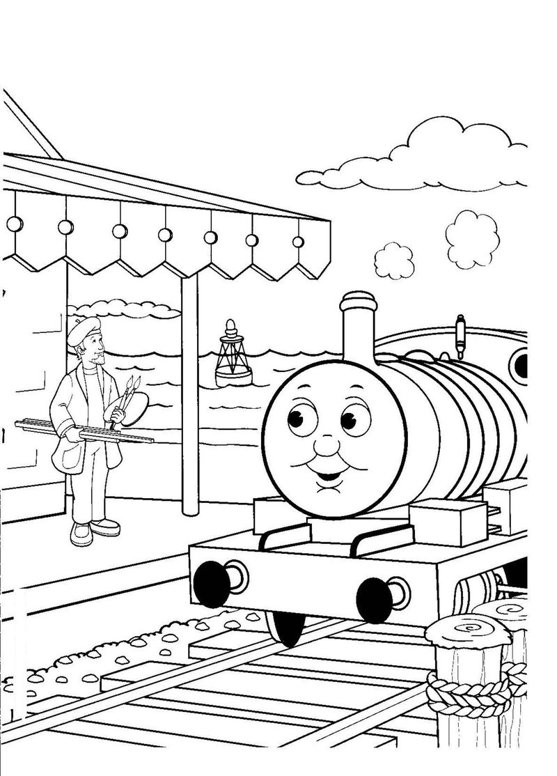 thomas and train coloring pages