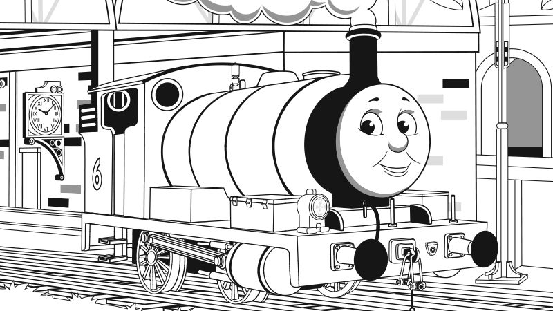 thomas the tank engine coloring book pages
