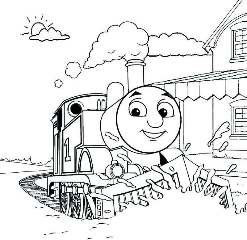 thomas the tank engine colouring pages free