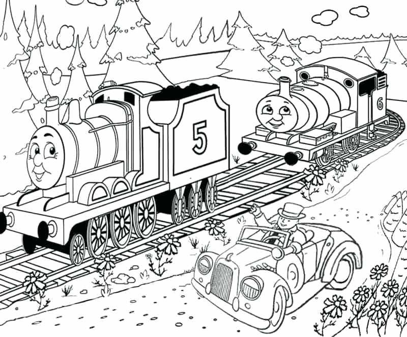 thomas the tank engine free coloring pages